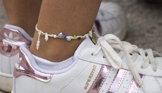 bracelet de cheville en argent